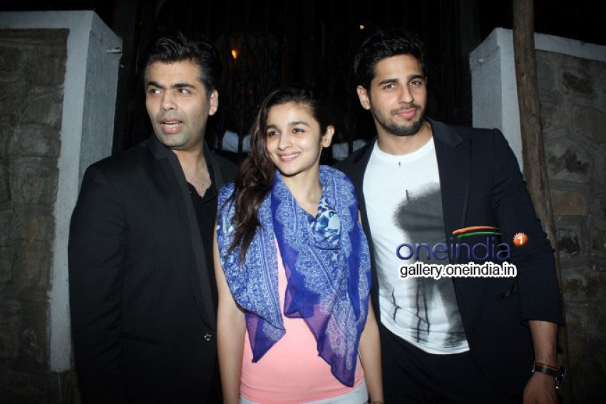 Alia Bhatt, Sidharth Malhotra and Karan Johar Snapped at Lido Photos