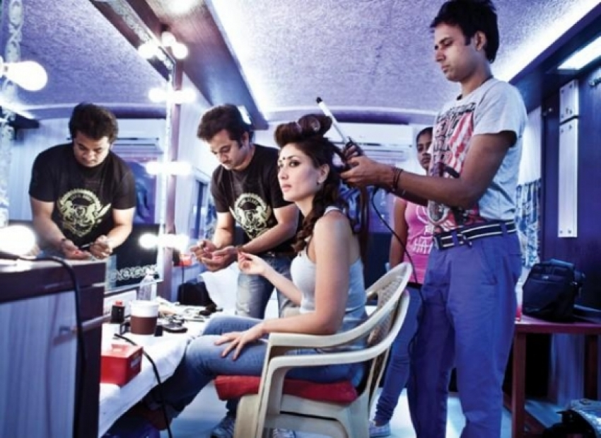 Actress in Makeup Room Photos