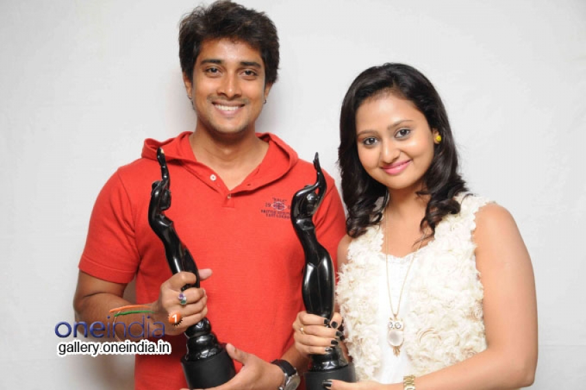 Male Film Press Meet and Prem and Amulya with Filmfare Awards South Photos