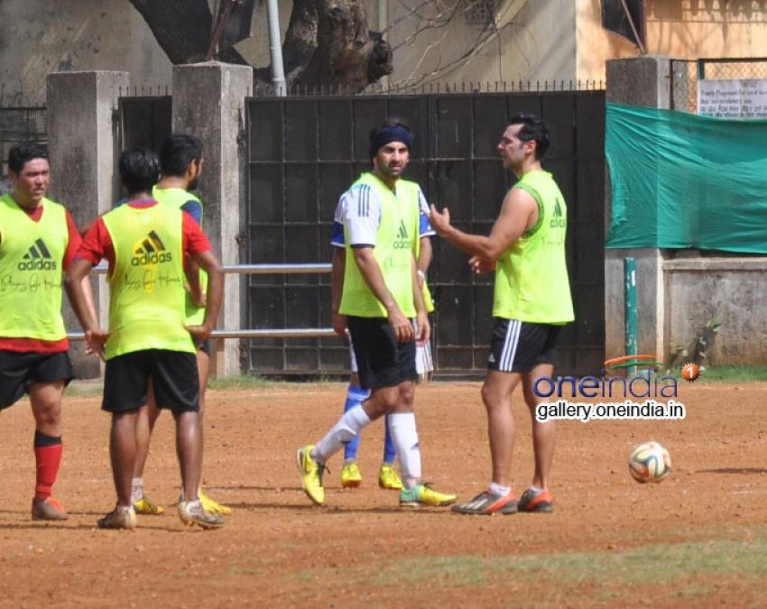 Ranbir Kapoor Plays Football Photos
