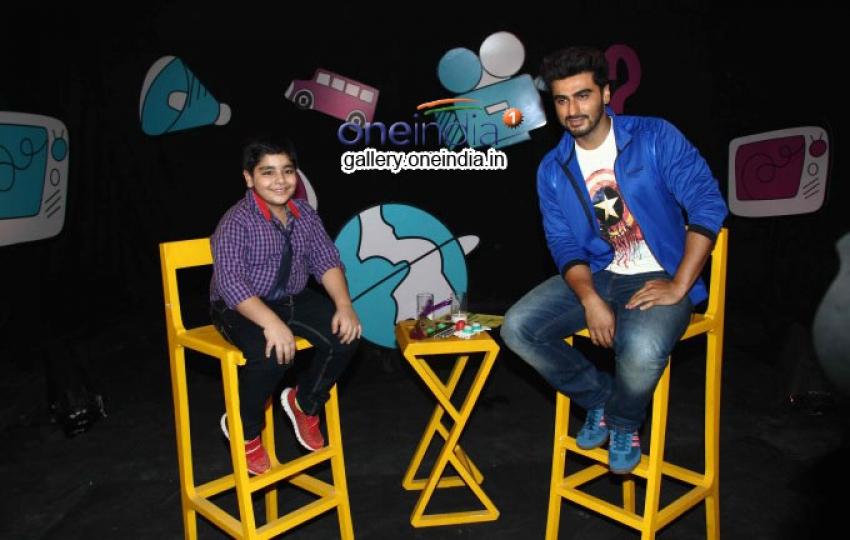 Arjun Kapoor on the set of Disneys Chat Show Captain Tiao Photos