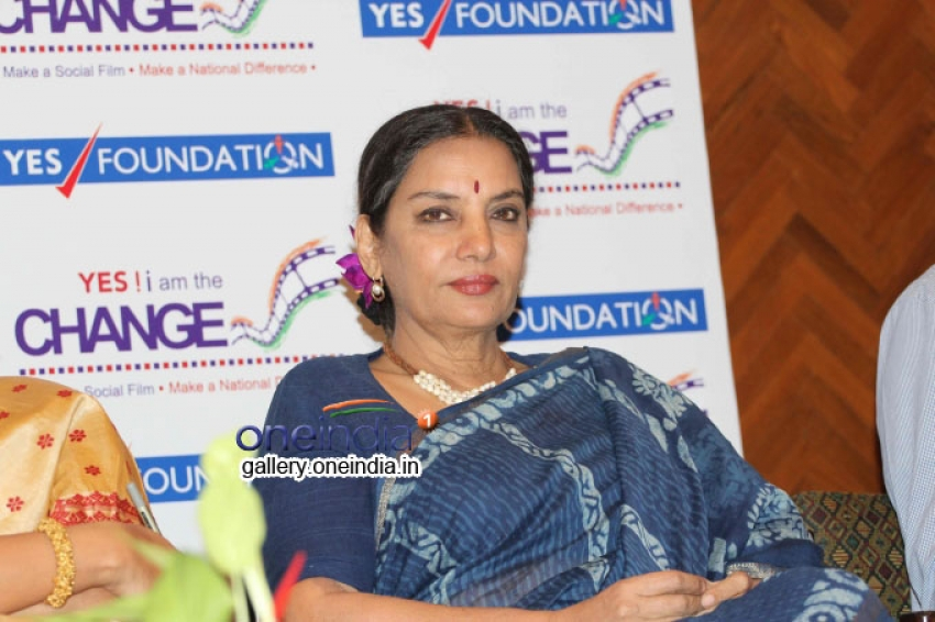 Shabana Azmi Speaks about Panel Discussion Yes I Am the Change Photos