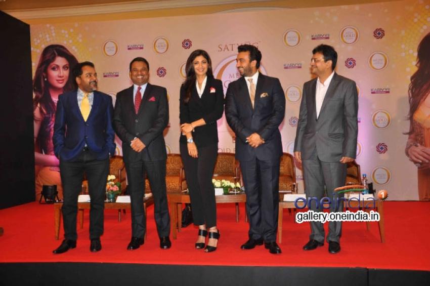 Shilpa Shetty and Raj Kundra Launches Mera Gold Plan of Satyug Gold Photos