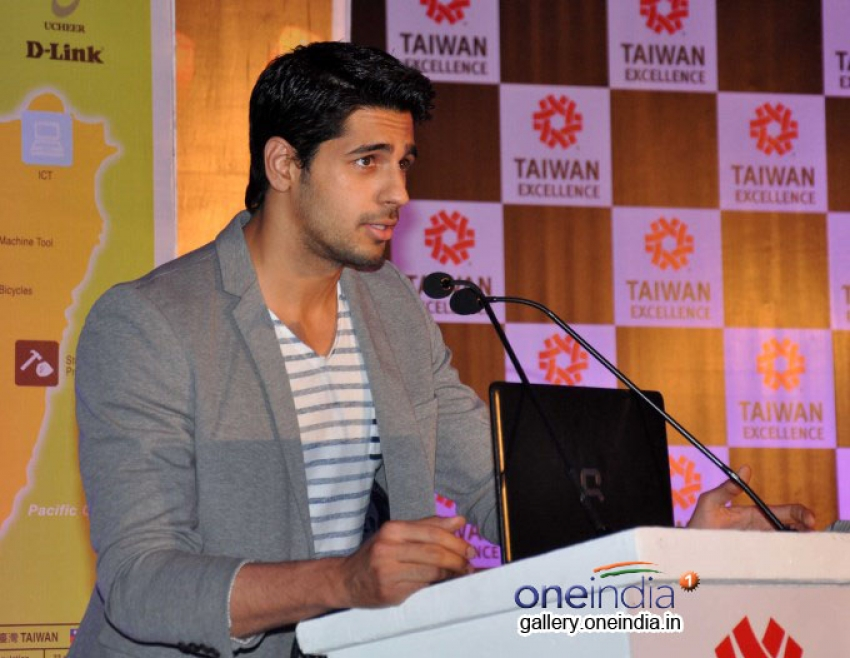 Siddharth Malhotra Launches Taiwan Excellence 2014 Campaign Photos