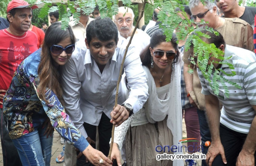 MLA Aslam Shaikh organised tree plantation with Actors Photos