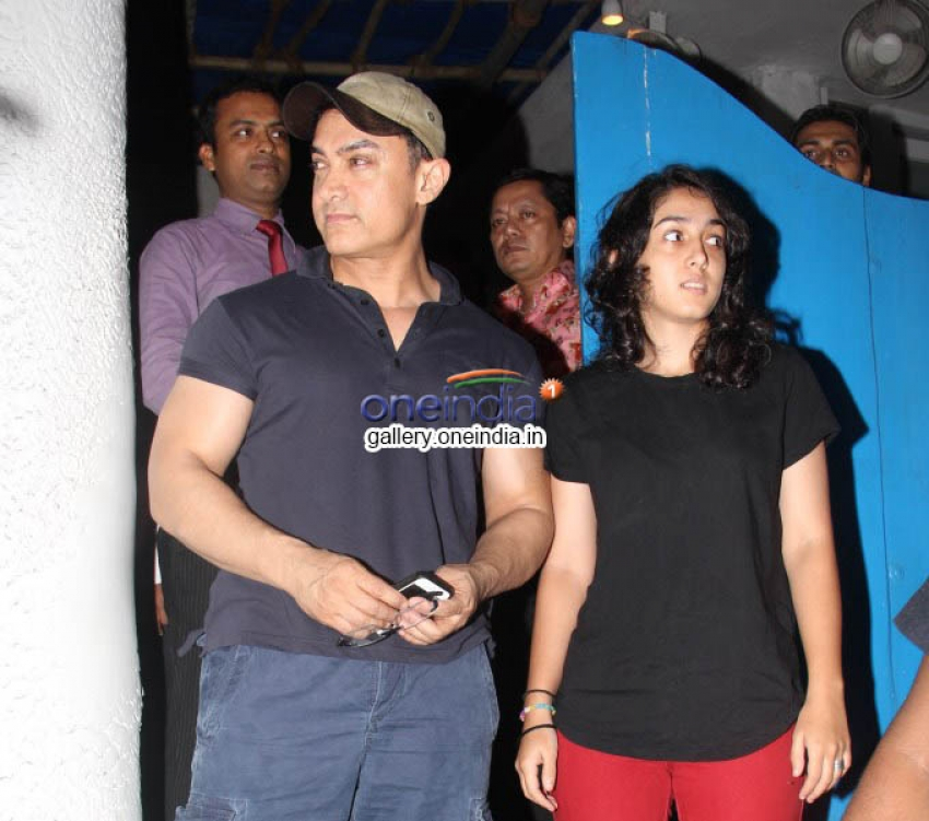 Aamir Khan Spotted with Daughter Ira at Olive Bandra Photos