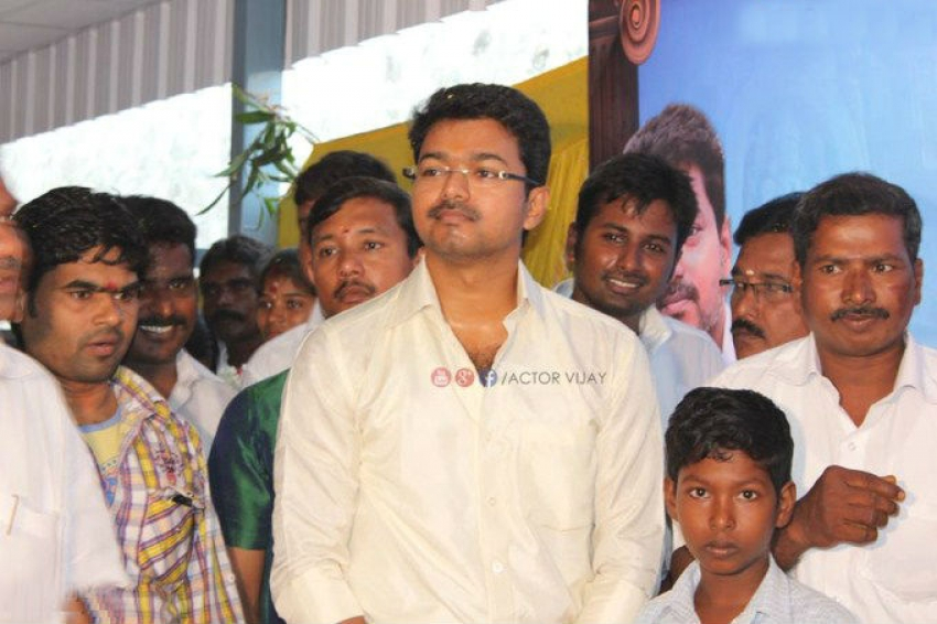 Actor Vijay Attended a Grand Marriage Function of his Fans Photos