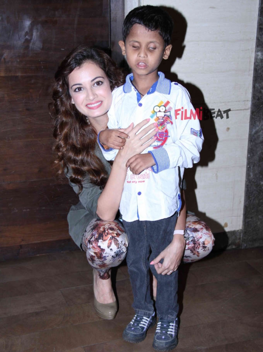 Dia Mirza launches musical short film 'B for Braille' Photos