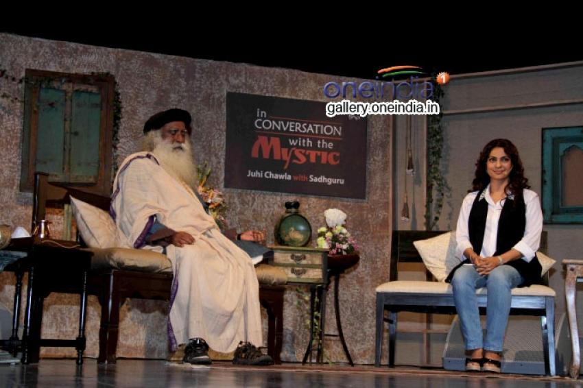 In Conversation with the Mystic Juhi Chawla with Sadhguru Photos