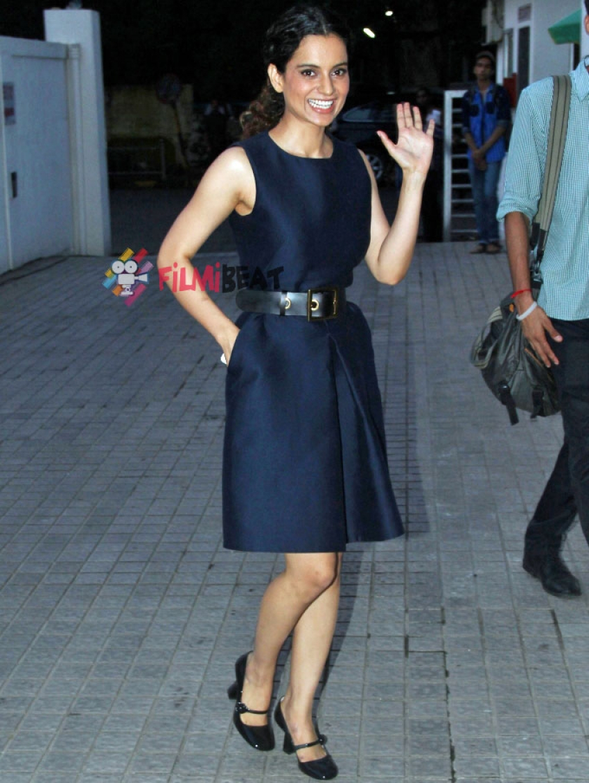 Kangana Ranaut snapped in PVR Juhu Shooting for a Talk Show Photos
