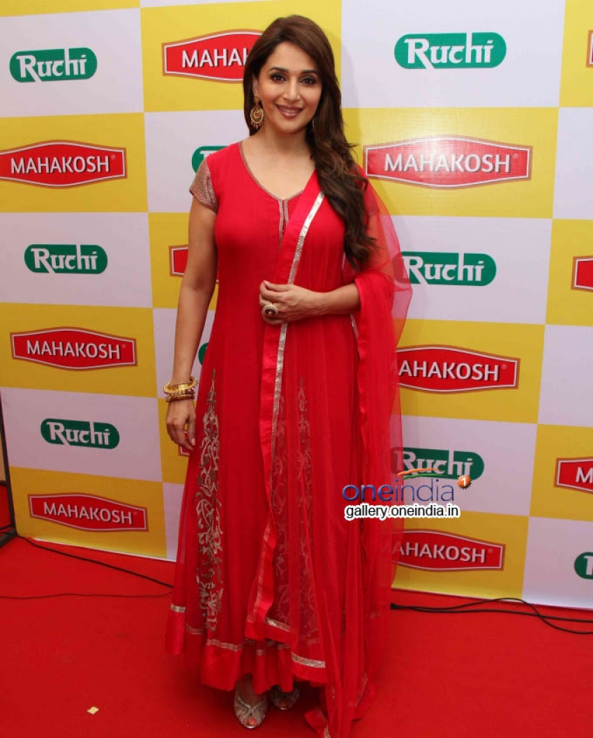 Madhuri Dixit at Campaign Shoots for  Mahakosh Photos