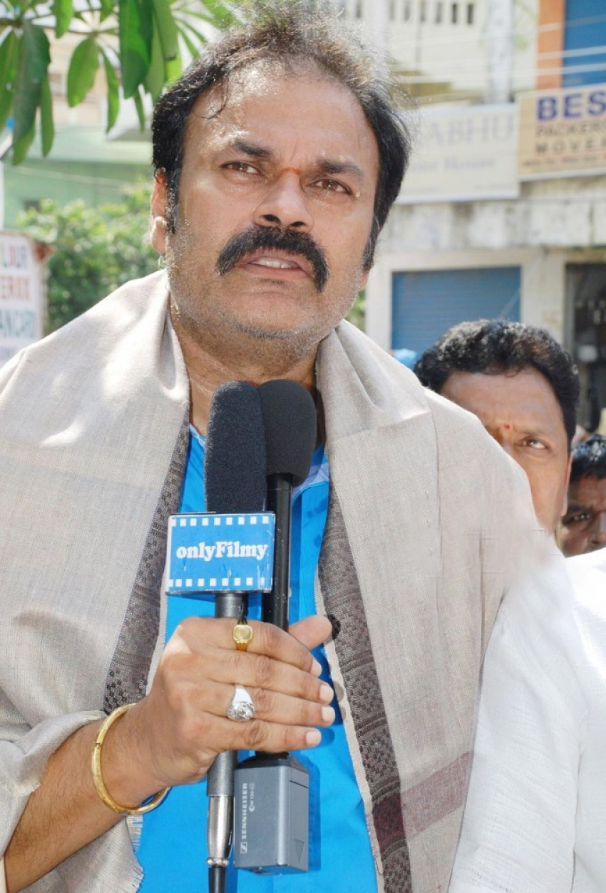 Nagendra Babu Flags of 1 lac Plants Movement on Chiranjeevi's Birthday Photos
