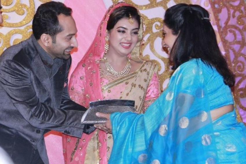 Nazriya Nazim and Fahadh Faasil Wedding Reception Photos