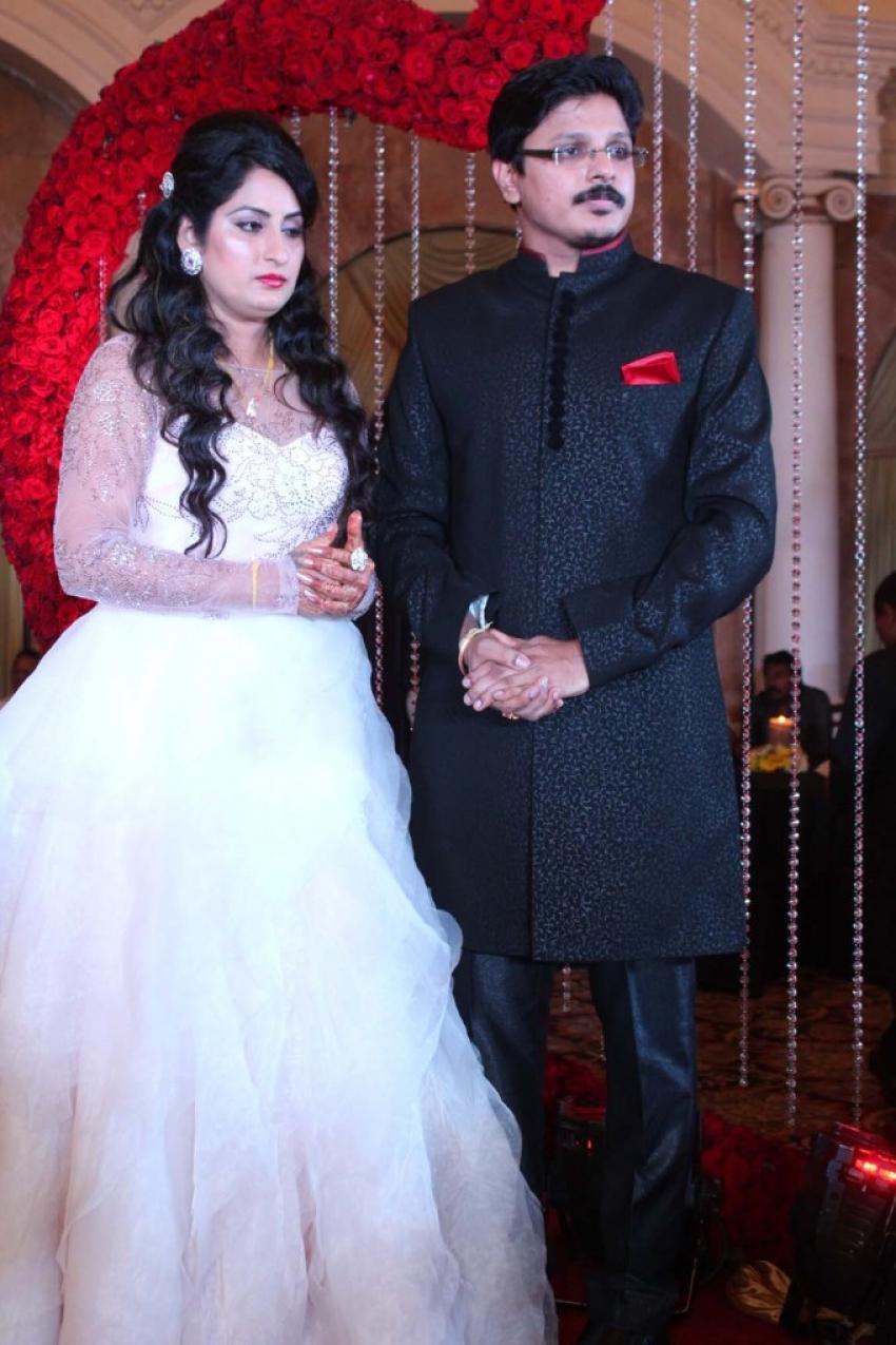 Roopa Iyer & Gowtham Srivatsa Wedding Reception Photos