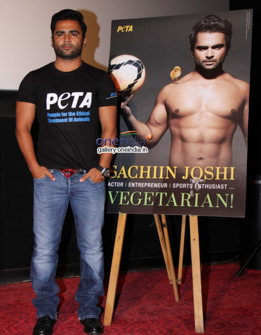 Sachiin Joshi's New Vegetarian Ad of Peta Photos