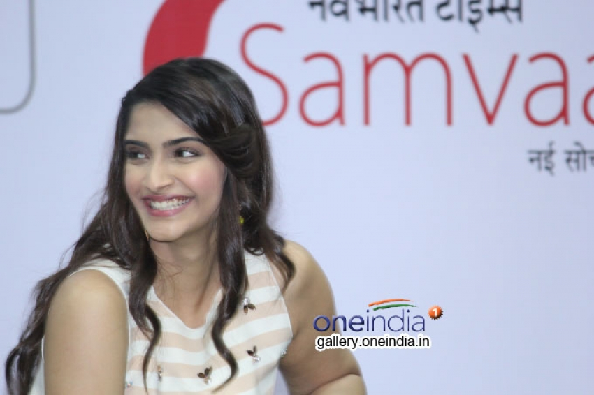 Sonam Kapoor promotes Khoobsurat at NBT seminar Photos