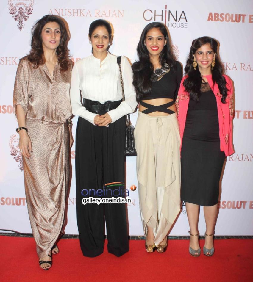 Sridevi Unveils Absolut Elyx and Anushka Rajan's Fashion Preview Photos