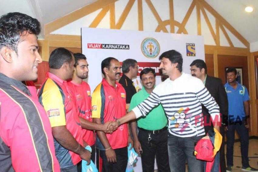Sudeep Launches KPL Jersey Photos