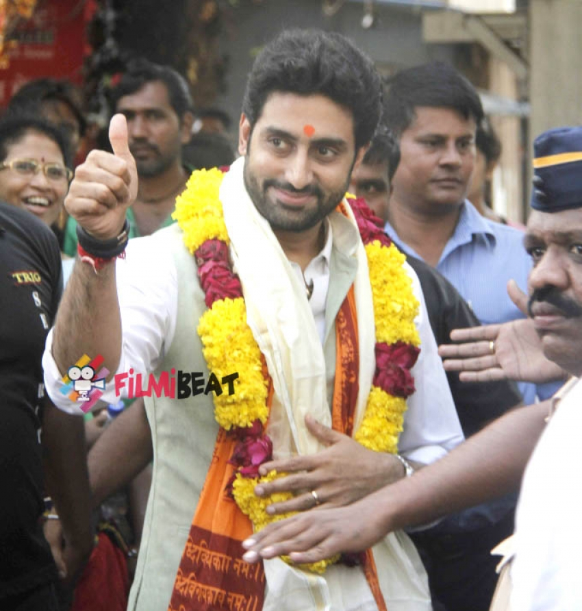 Abhishek Bachchan visits Siddhi Vinayaka Temple Photos