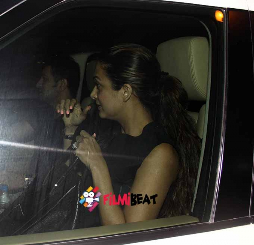 Amrita Arora Snapped with her Husband at Olive Bandra Photos