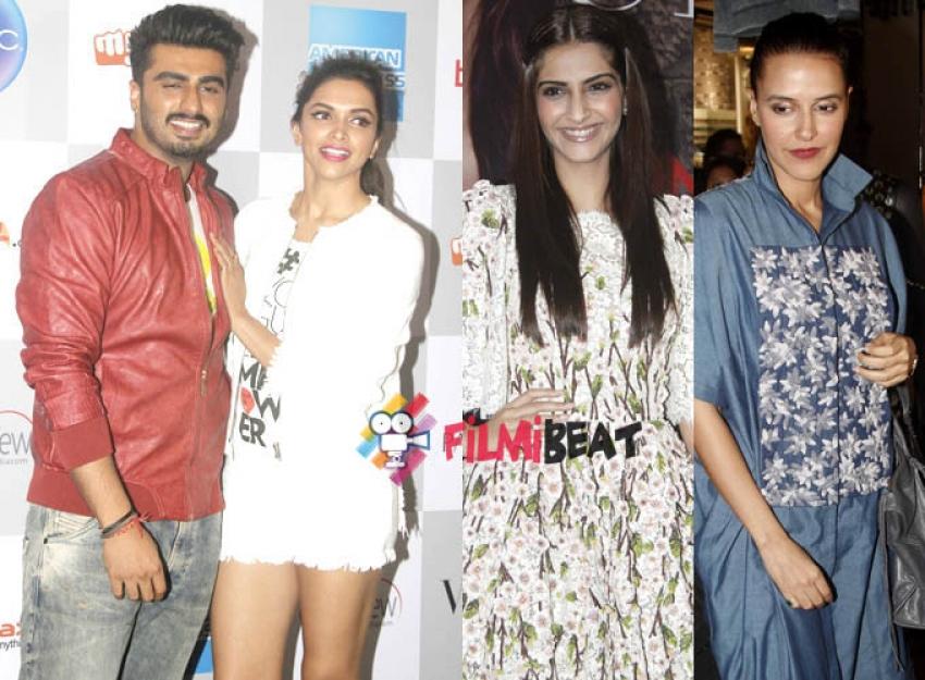 Deepika, Arjun Kapoor, Sonam and Neha Dhupia at Vogue Night Out Photos