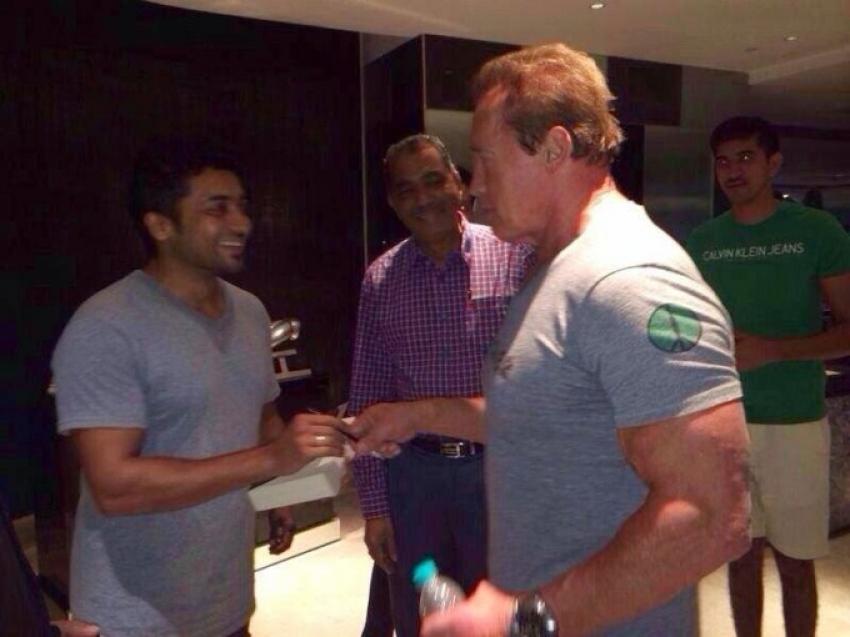 Arnold Schwarzenegger Day Out in Chennai Photos