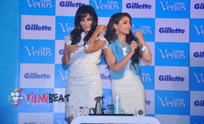 Chitrangada and Soha Launches Gillette's 'Satin Care' Shave Gel Photos