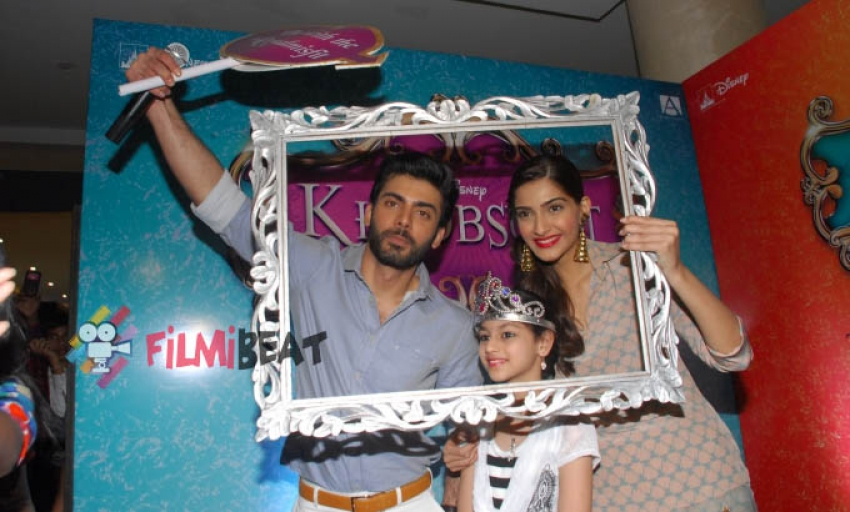 Sonam Kapoor and Fawad Khan promote Khoobsurat Photos
