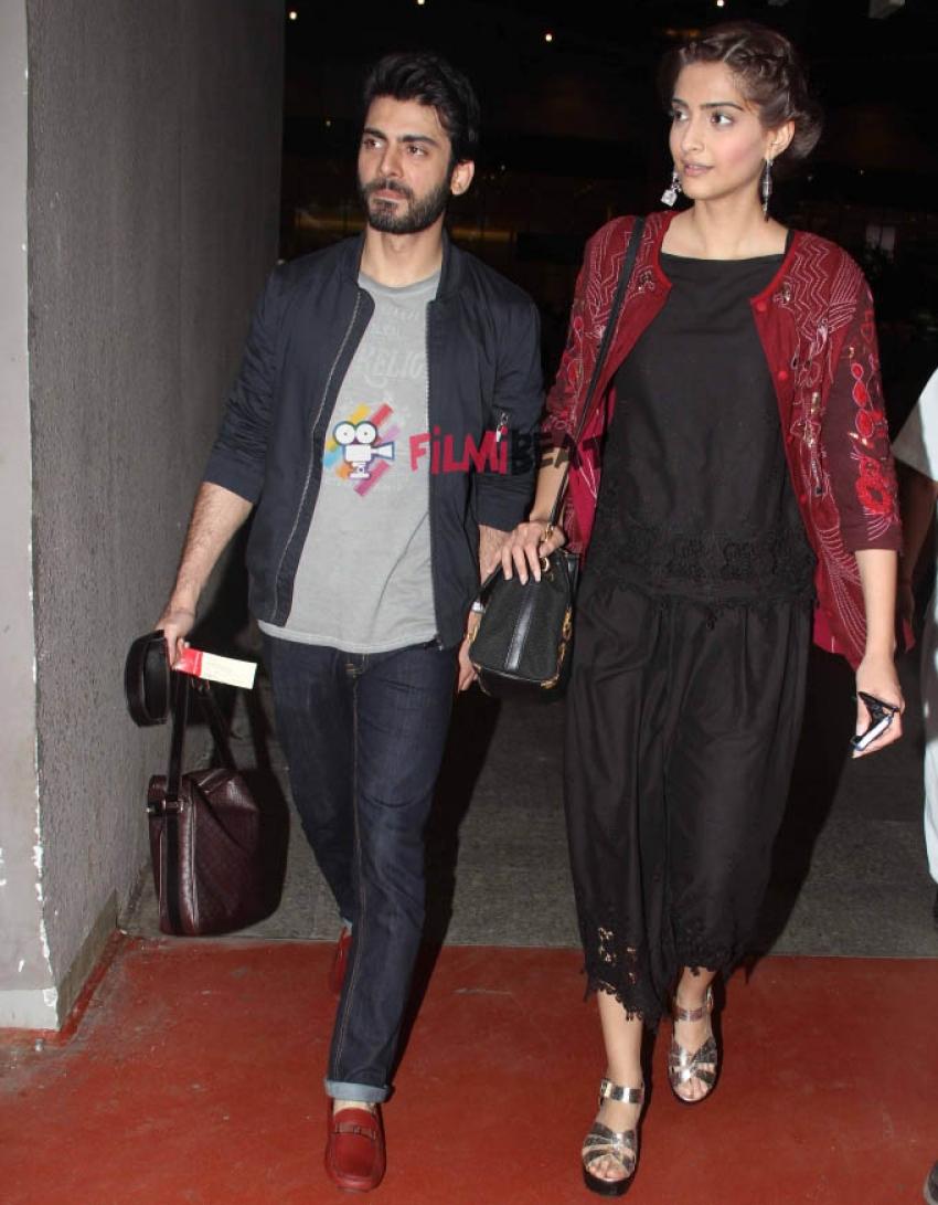 Sonam Kapoor and Fawad Khan Snapped At Mumbai Airport Photos