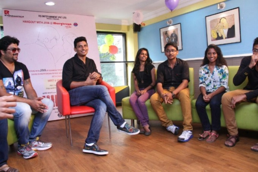 Hangout with Jiiva at Marrybrown Photos