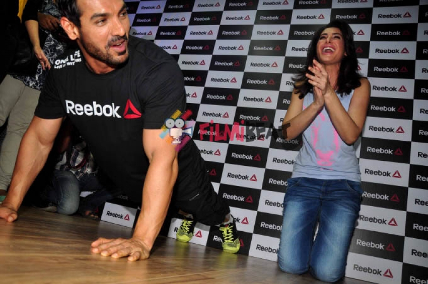 John and Nargis Fakhri launched Reebok FitHub Store Photos