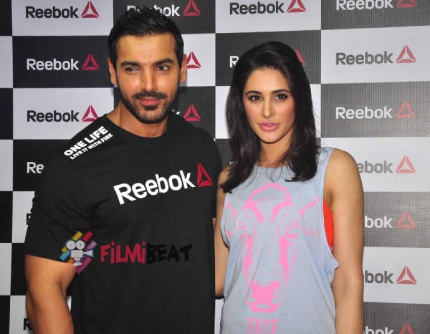 John and Nargis Fakhri launched Reebok FitHub Store Photos
