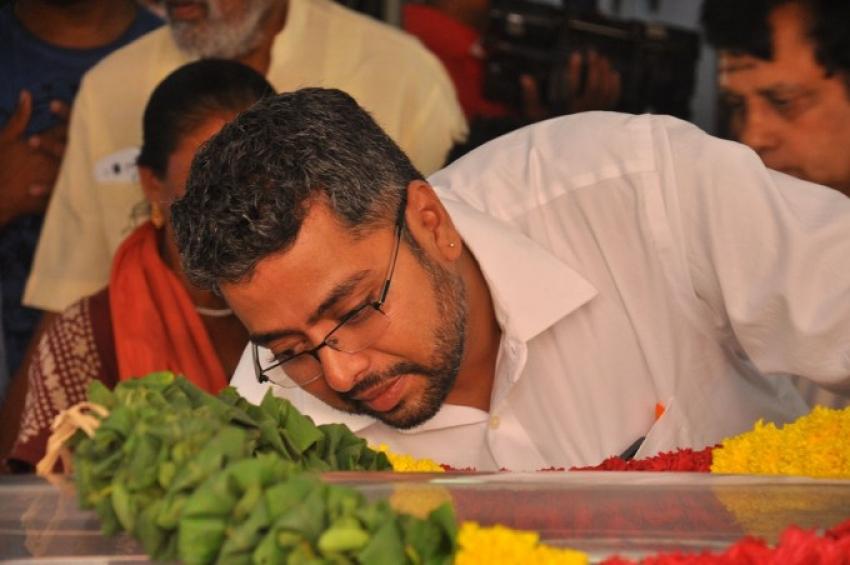 Mandolin U Srinivas Funeral Photos