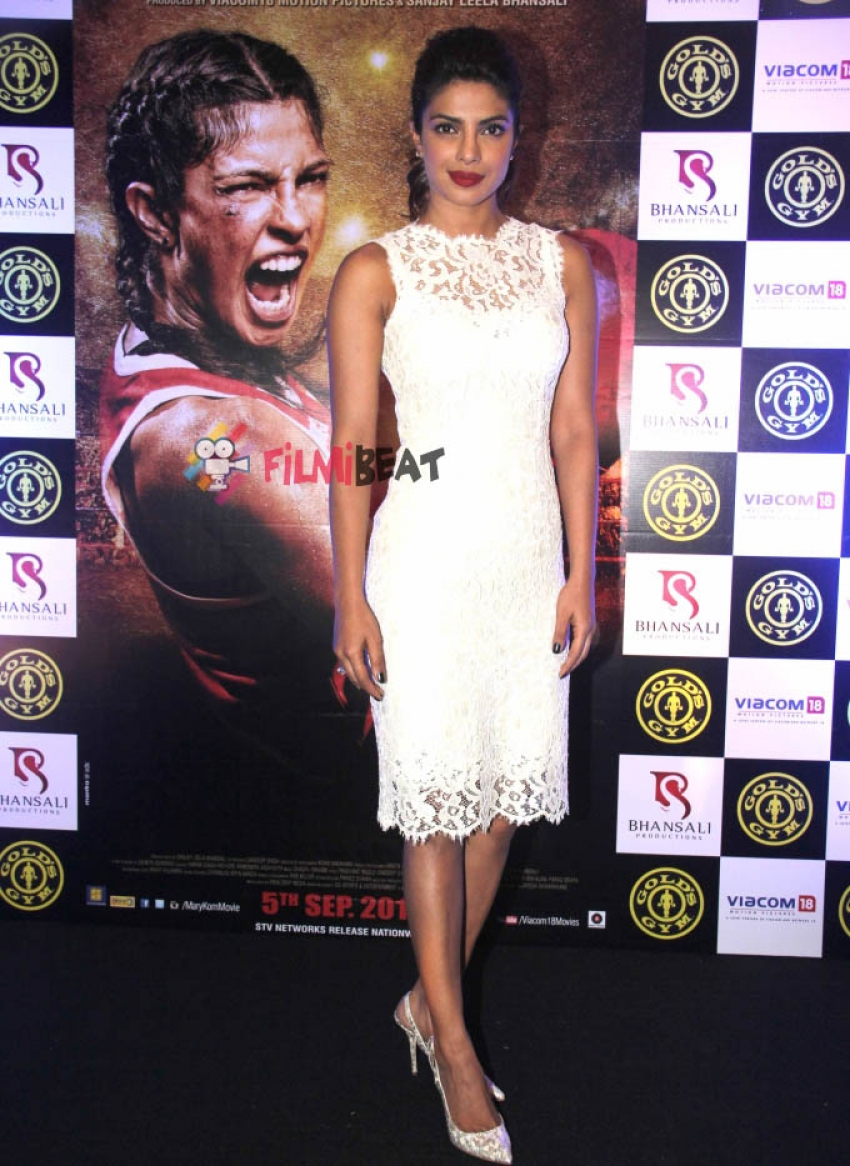 Priyanka Chopra Promotes Mary Kom at Gold's Gym Photos