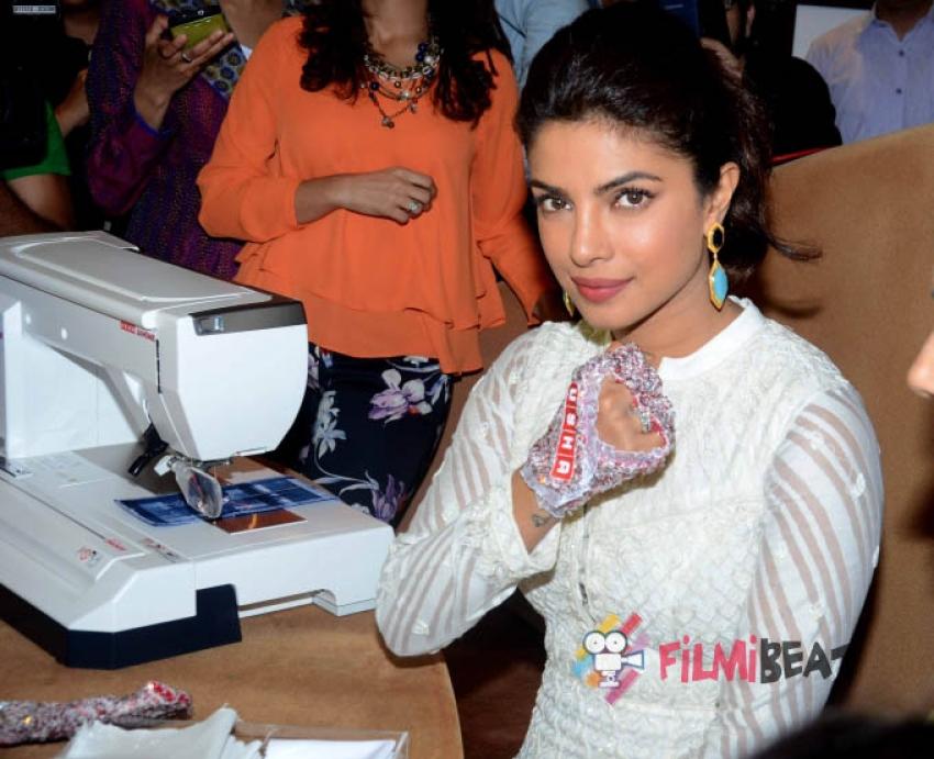 Priyanka Chopra visits Usha International Hab Photos