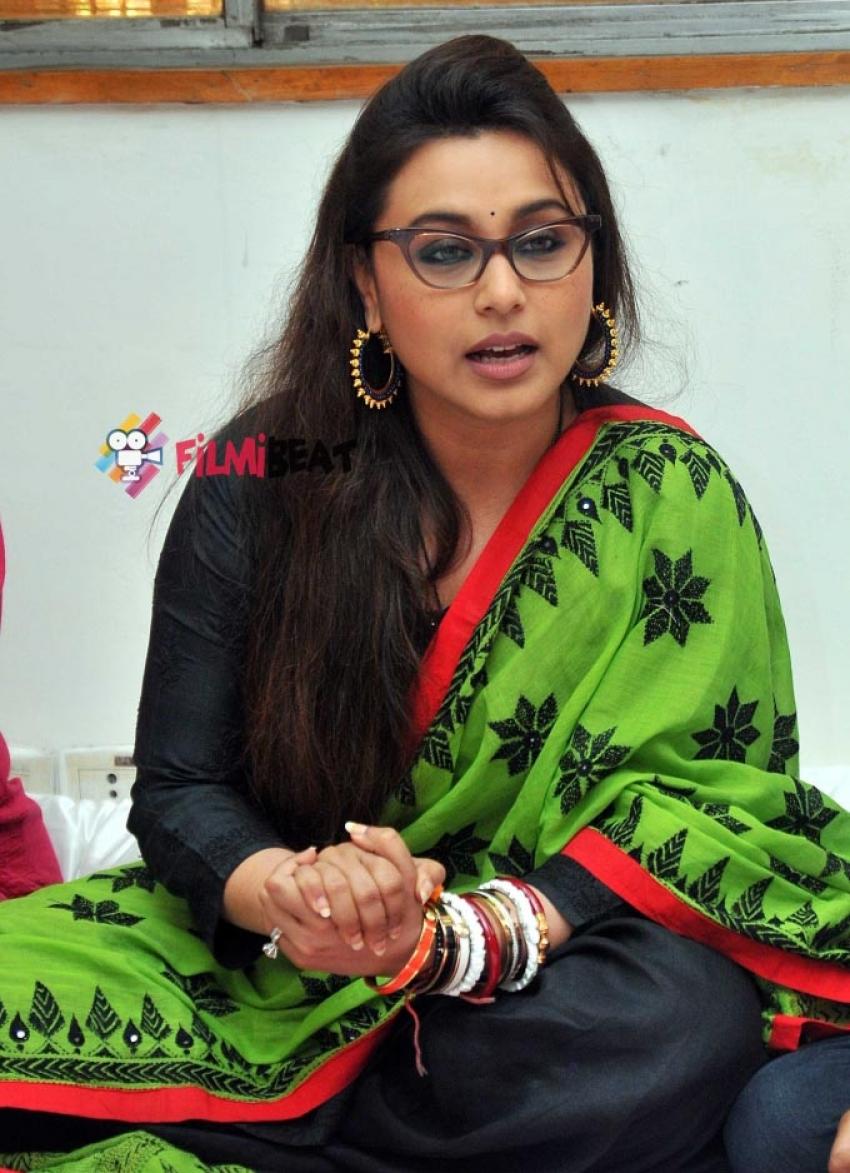 Rani Mukerji visits anti sex trafficking NGO Photos