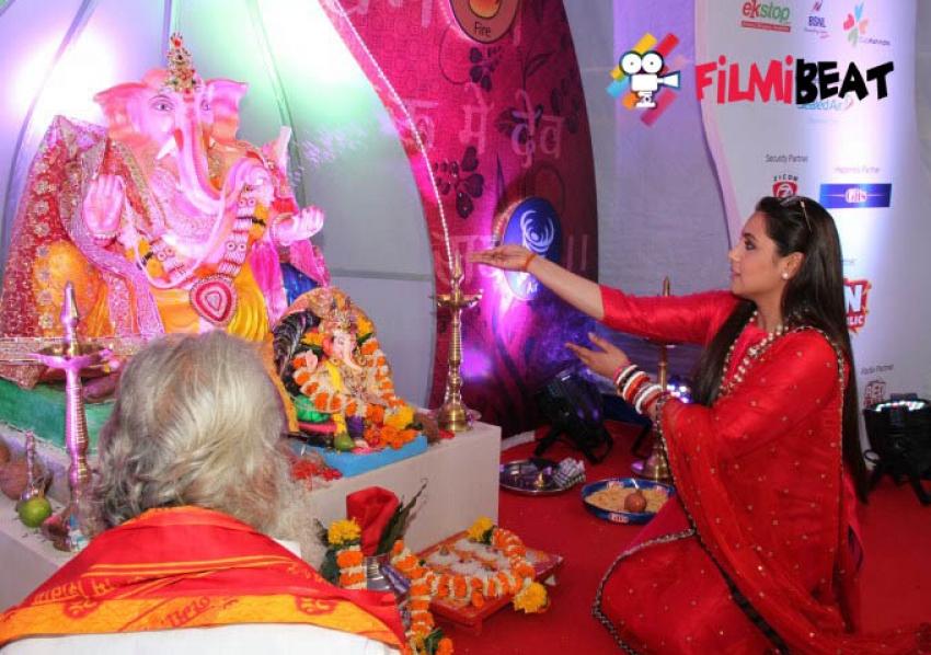 Rani Mukherjee visits Eco Friendly Ganesha Celebrations at Funrepublic Photos