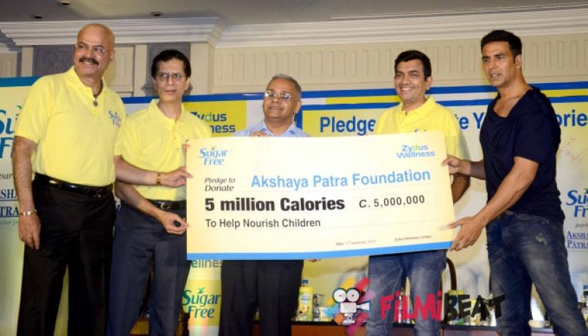 Akshay Kumar Promotes Sugar Free Diet Photos