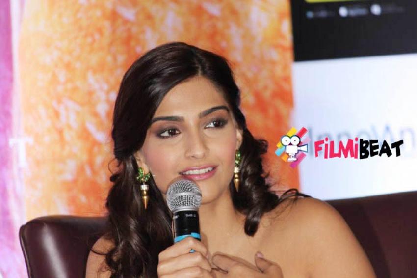 Sonam Kapoor Khoobsurat Movie Promotion in Bangalore Photos