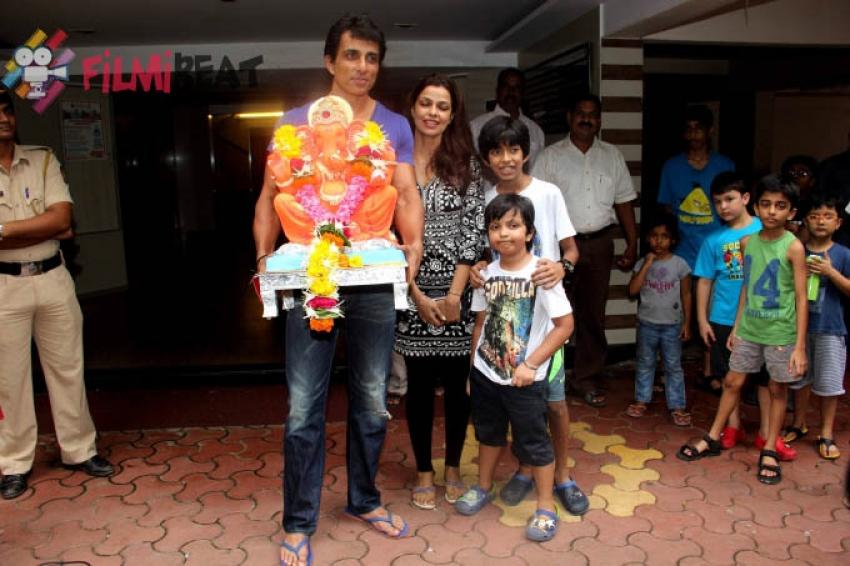 Sonu Sood's Ganpati Visarjan Photos