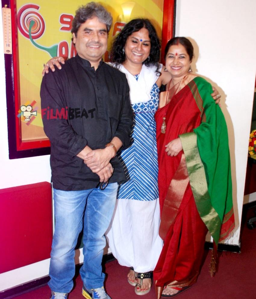 Vishal Bhardwaj and Rekha Bhardwaj at Radio Mirchi Photos