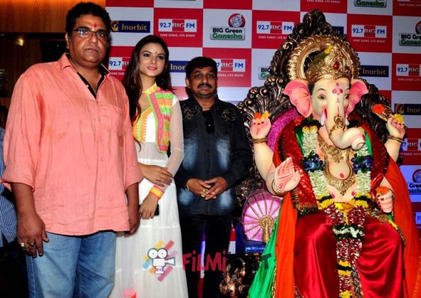 Stars visit eco friendly Big Green Ganesha Photos