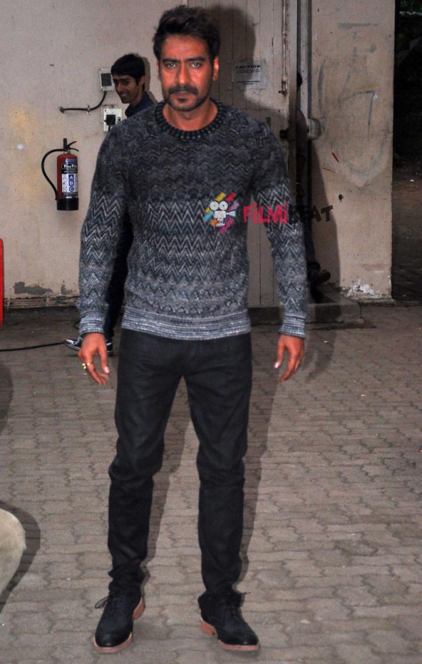Ajay Devgn Snapped At Mehboob Studio Bandra Photos