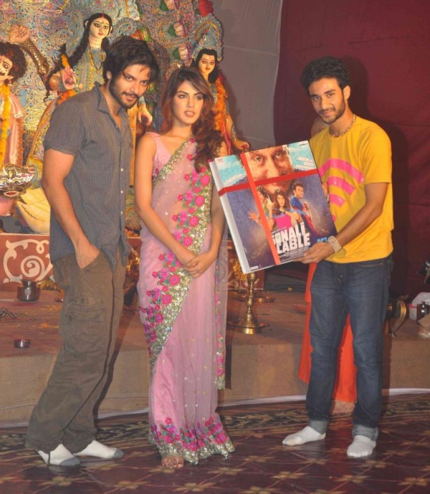 Cast of Sonali Cable at  Sarbojanik Durga Pooja Photos