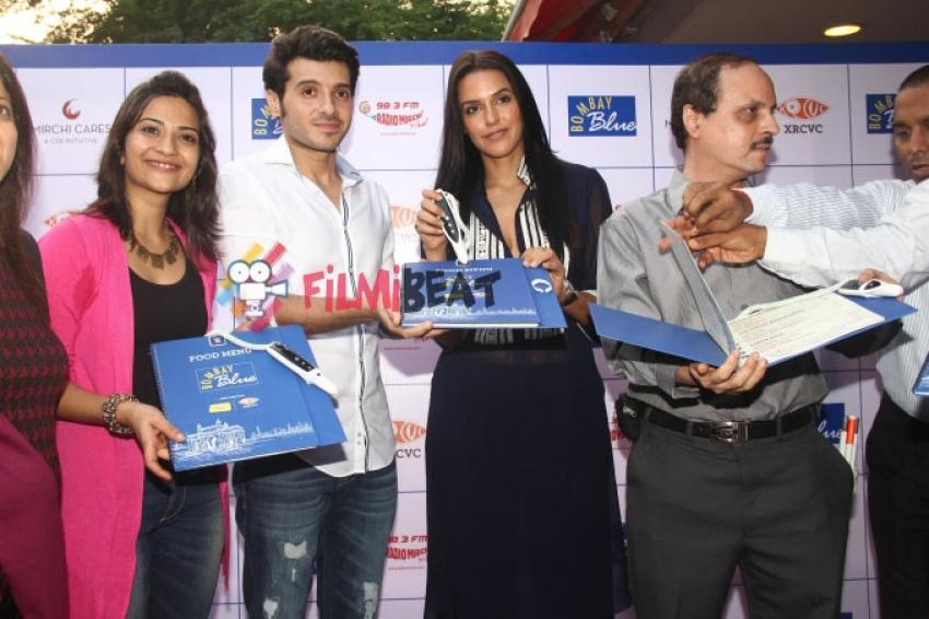 Neha Dhupia Launches Bombay Blue's Braille & Audio Menu Photos