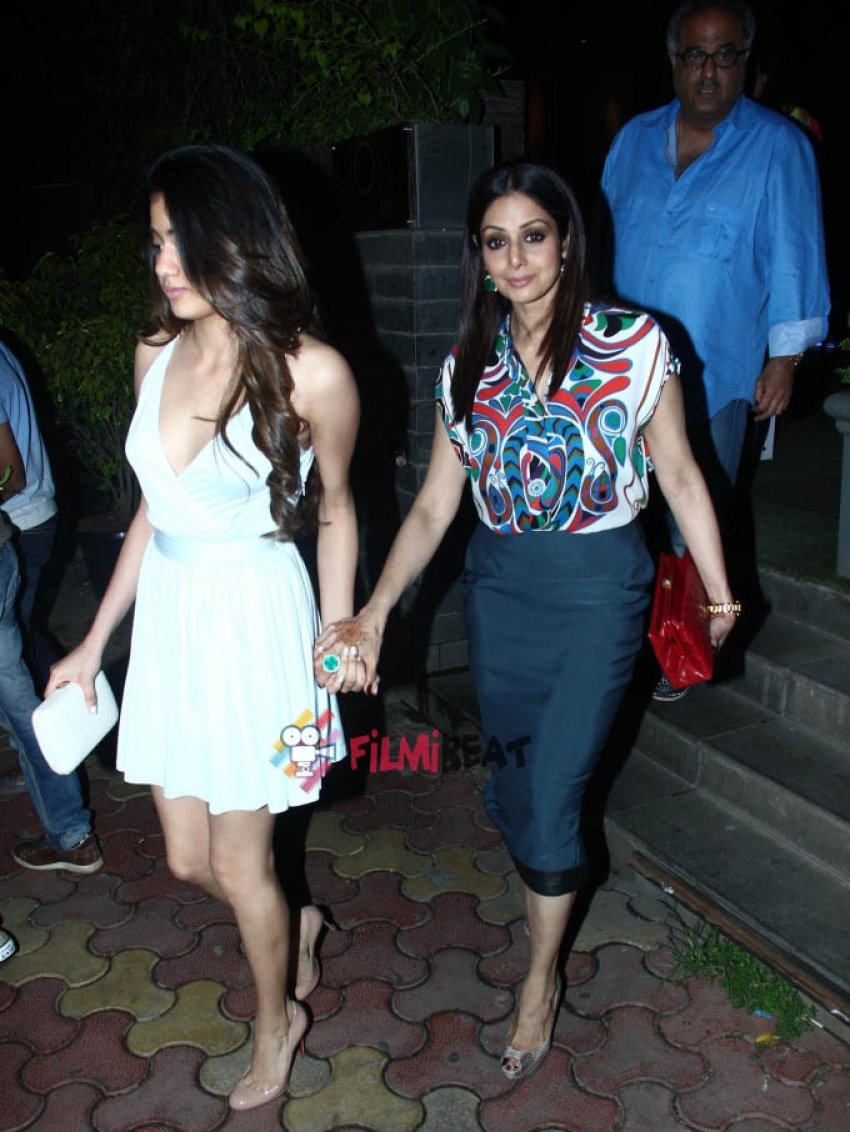 Sridevi With Family Snapped At Santacruz, Mumbai Photos