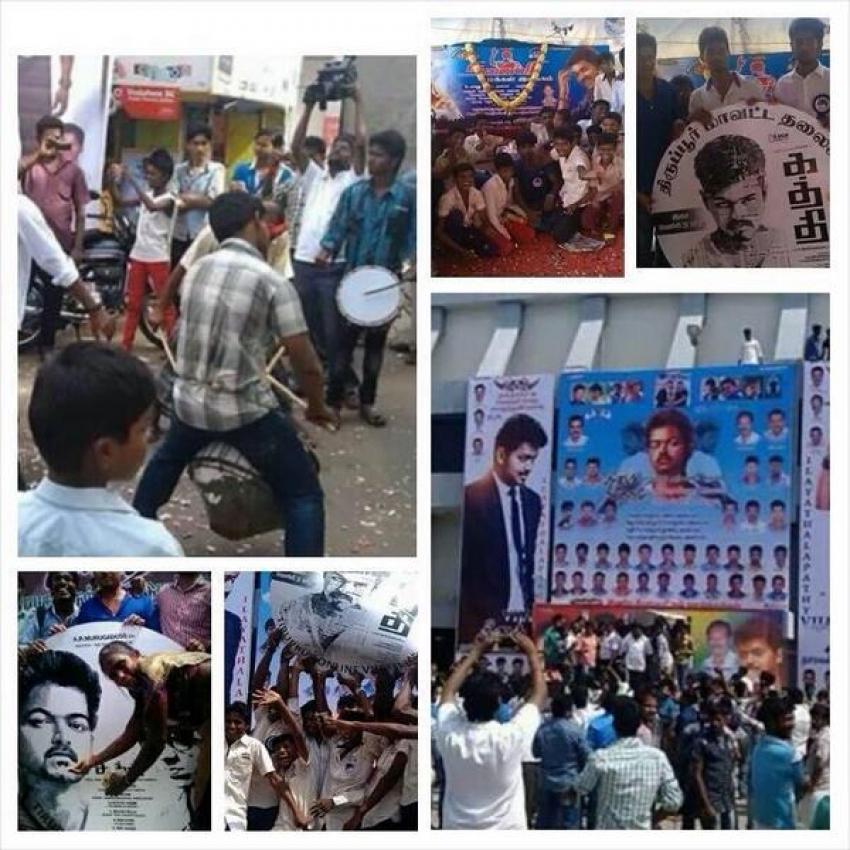 Kaththi Celebration Starts Photos
