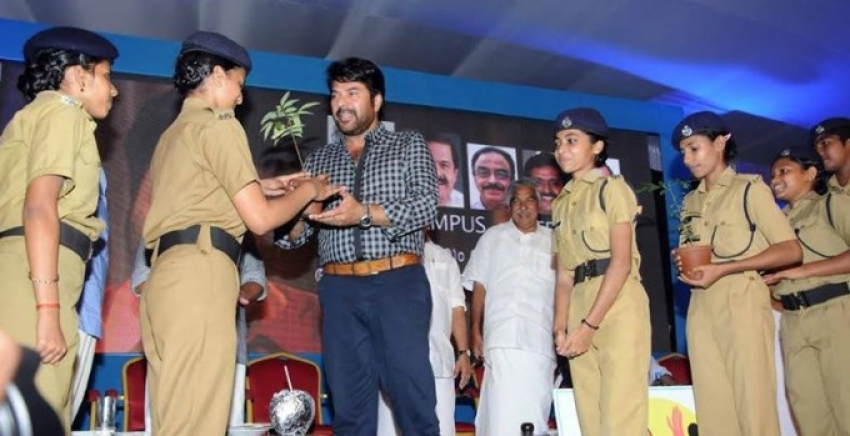 Mammootty Promoting Clean Campus Safe Campus Campaign Photos