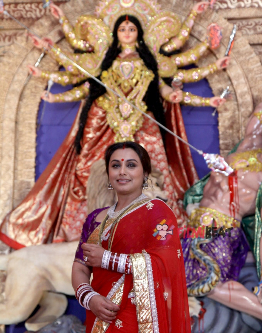 Rani Mukerji At Durga Puja Photos