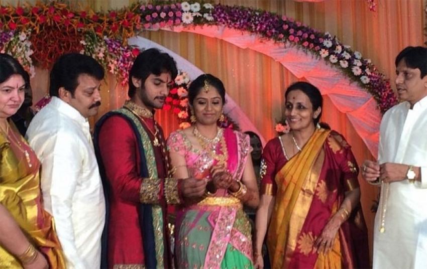Sai Kumar Son Aadi Engagement Photos
